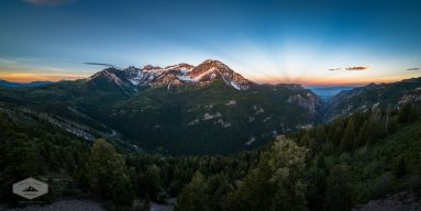 Rays of Light over Timpanogos
