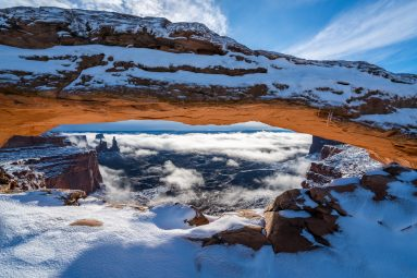 Mesa Arch in Winter