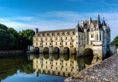 Chateau Chennonceau and River Cher - Loire Valley, France