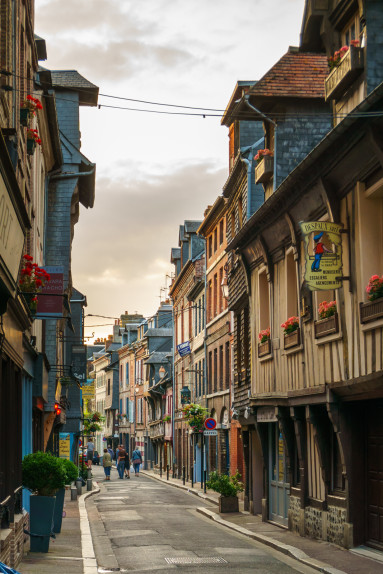 Street in Honfleur, France