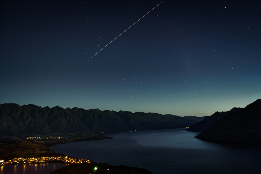 International Space Station Over Queenstown, New Zealand