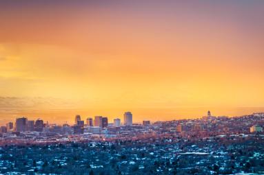 Orange Sky in Salt Lake City