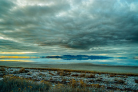 Dramatic Clouds Above The Great Salt Lake