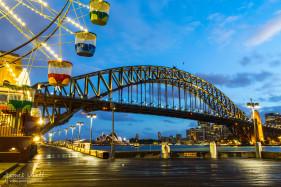 Sydney Harbour Bridge from Luna Park