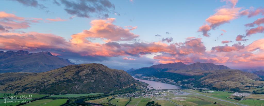 Pink Sunrise in Frankton, New Zealand
