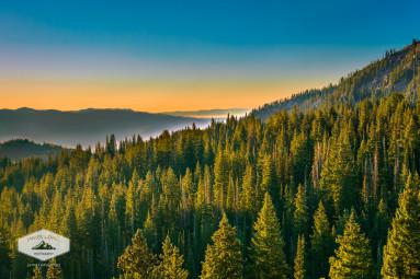 Panoramic Mountain Sunrise