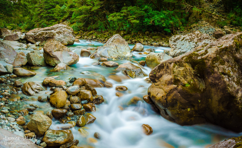 Emerald Water of Hollyford River