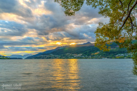 Two Eyed Sunset at Lake Wakatipu