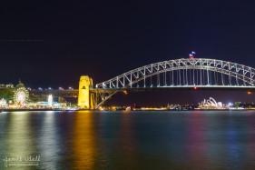 Milson's Point in Sydney at Night