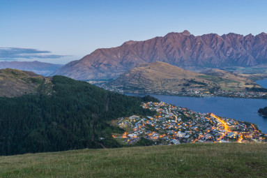 Queenstown, New Zealand at Dusk