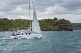 Sailboat in Sydney Harbour