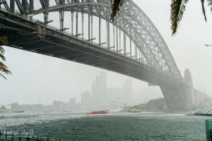Rainstorm in Sydney Harbour