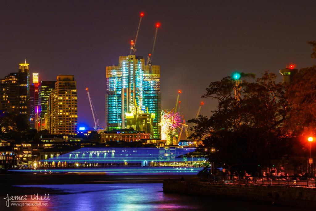 Sydney Harbour with Darling Harbour Fireworks