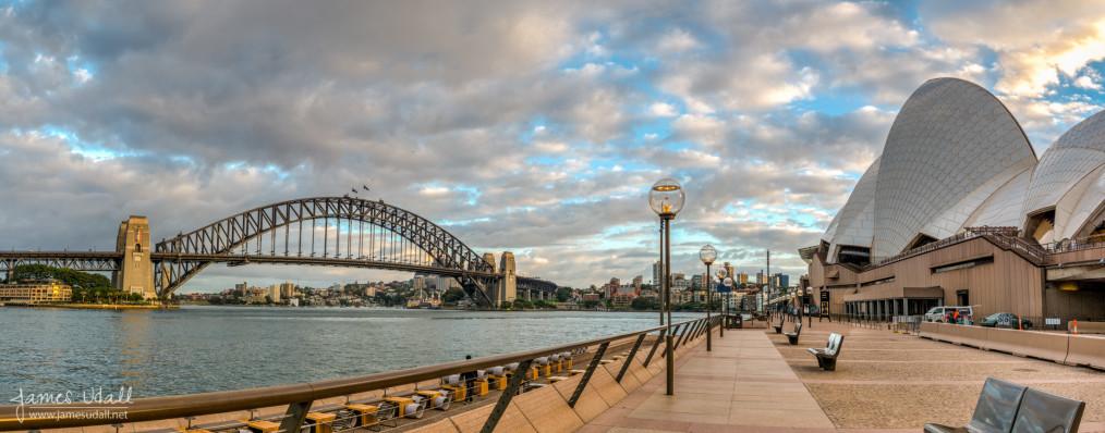 Circular Quay Panorama in Sydney