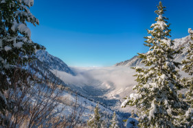 Winter in Little Cottonwood Canyon, Utah