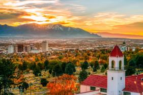 Autumn Sunset in Salt Lake City