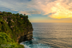Cliffs at Uluwatu Temple in Bali