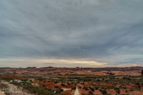 Cloudy Arches National Park