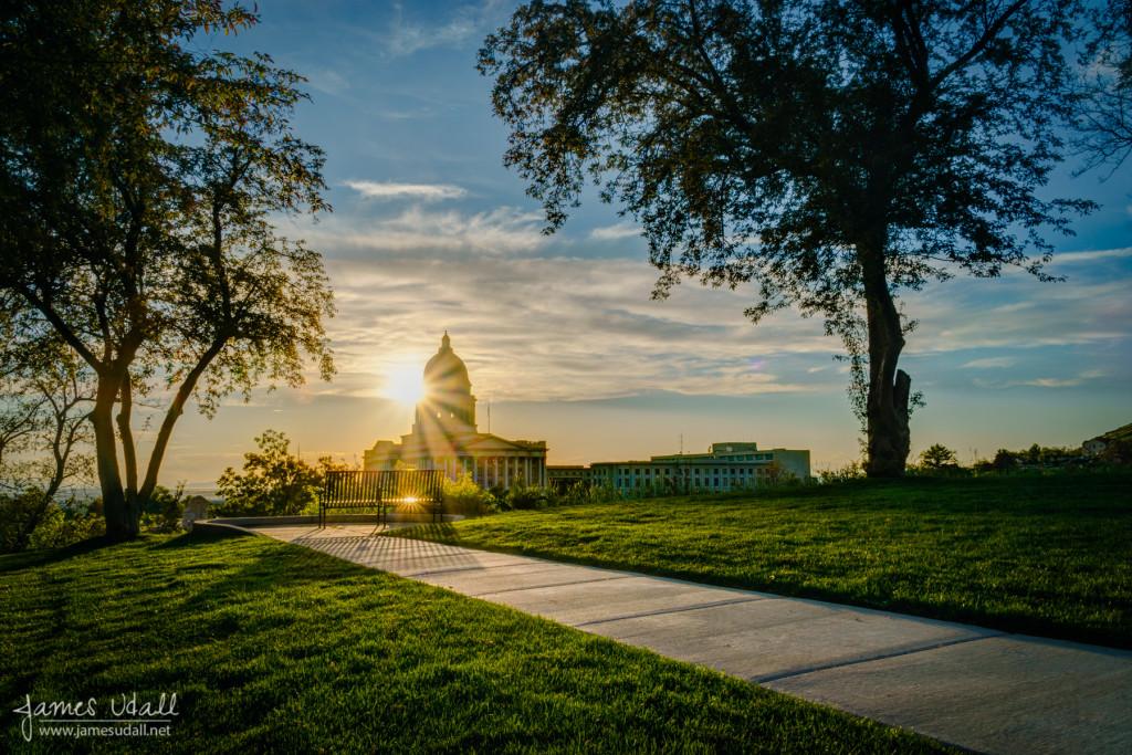Utah Capitol - Evening Light