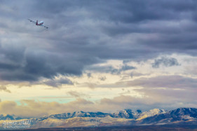 747 over Salt Lake