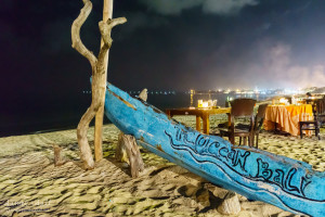 Jimbaran Beach at Night