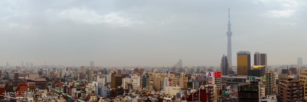 Panorama of Asakusa in Tokyo