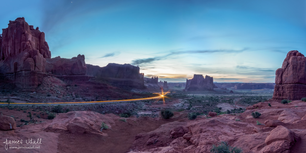 Road Through Arches National Parks