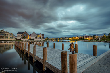 Stormy Evening at Oquirrh Lake
