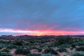 Sunrise at Arches National Park