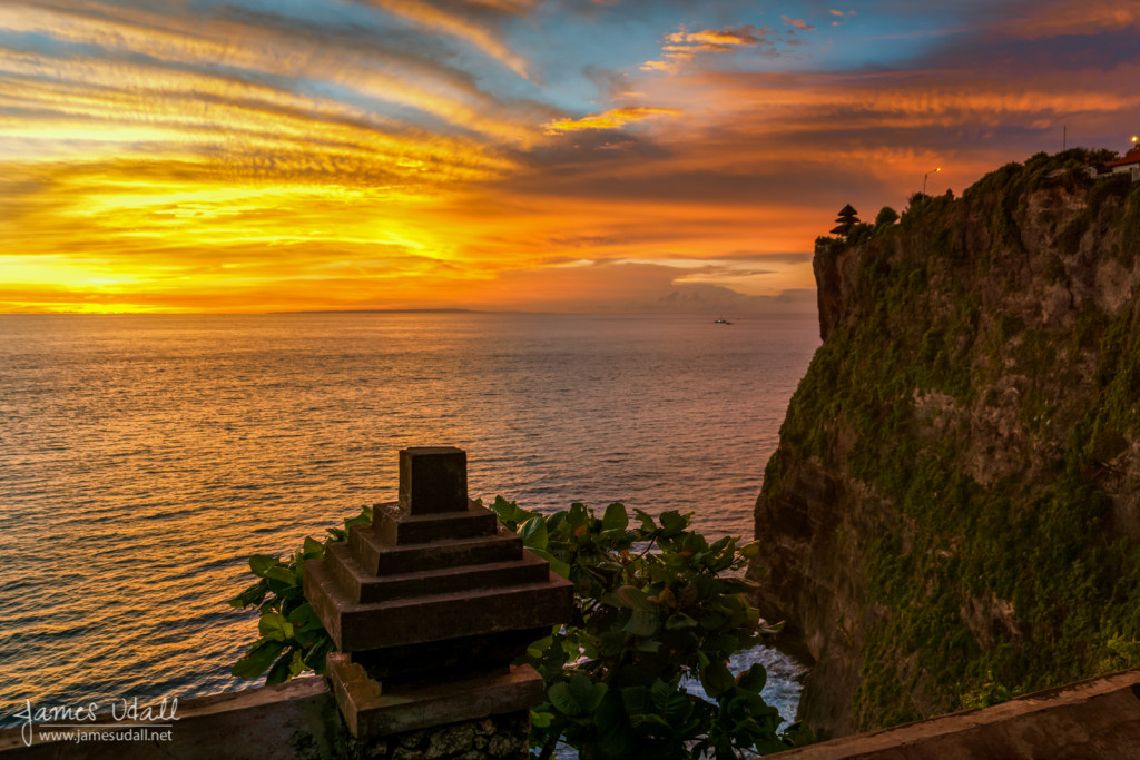 Sunset in Bali from Uluwatu