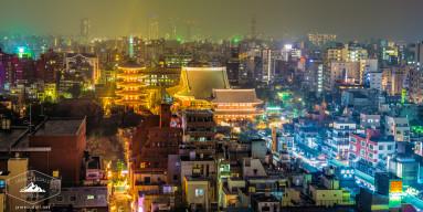 Tokyo's Asakusa District at Night
