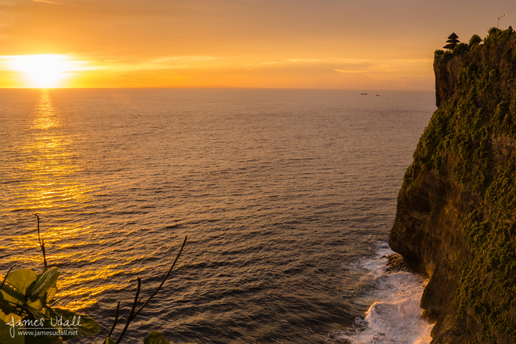 Clifside Sunset at Uluwatu Temple