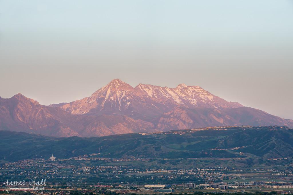 Evening Light on Draper, Utah and Mount Timpanogos