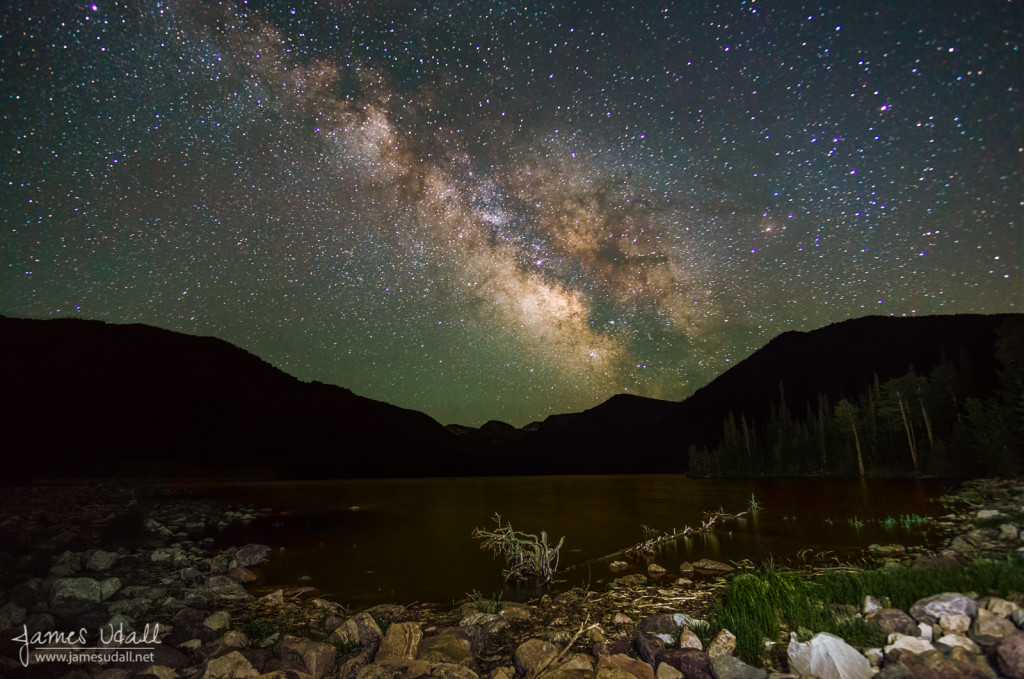Milky Way over Smith & Morehouse Resevoir