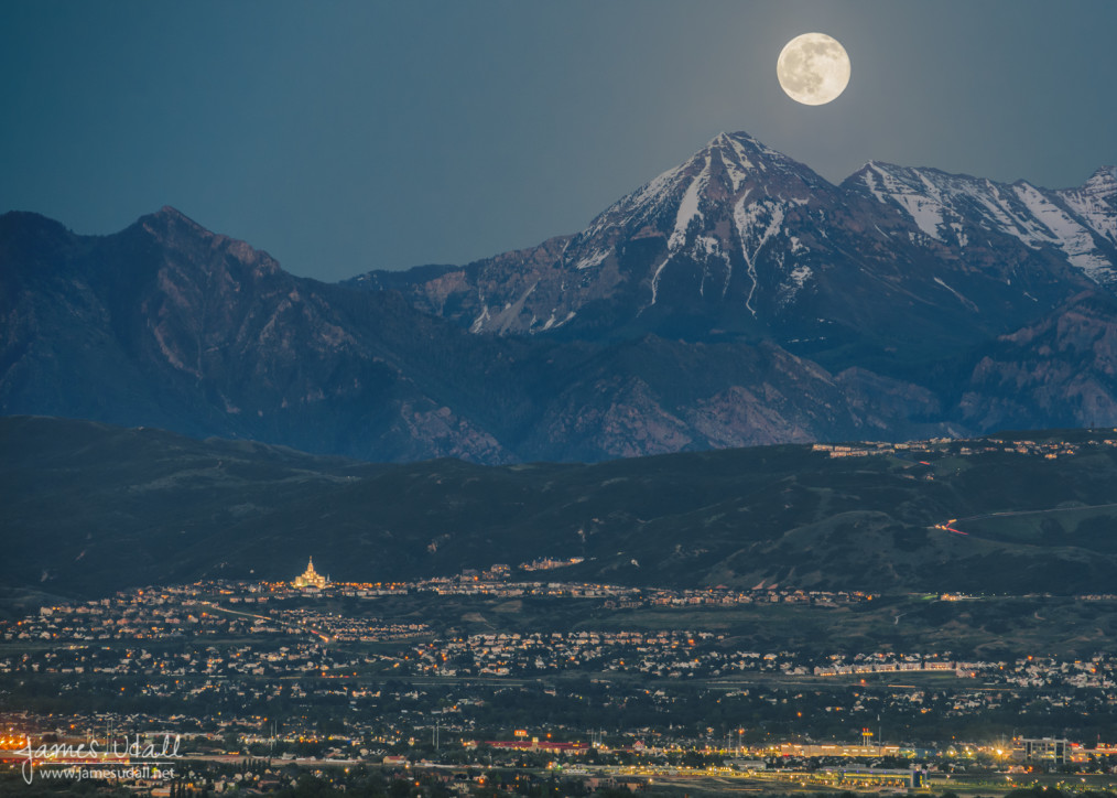 Moon Over Mount Timpanogos