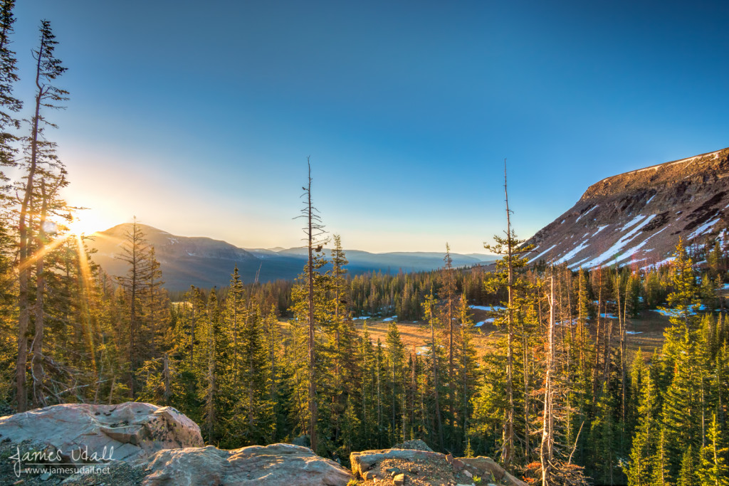 Sunrise over The Uintas