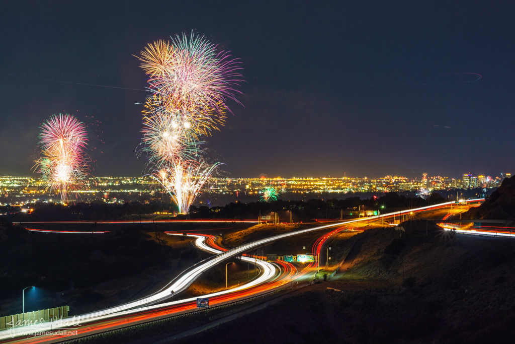 Fourth of July Fireworks in Salt Lake City