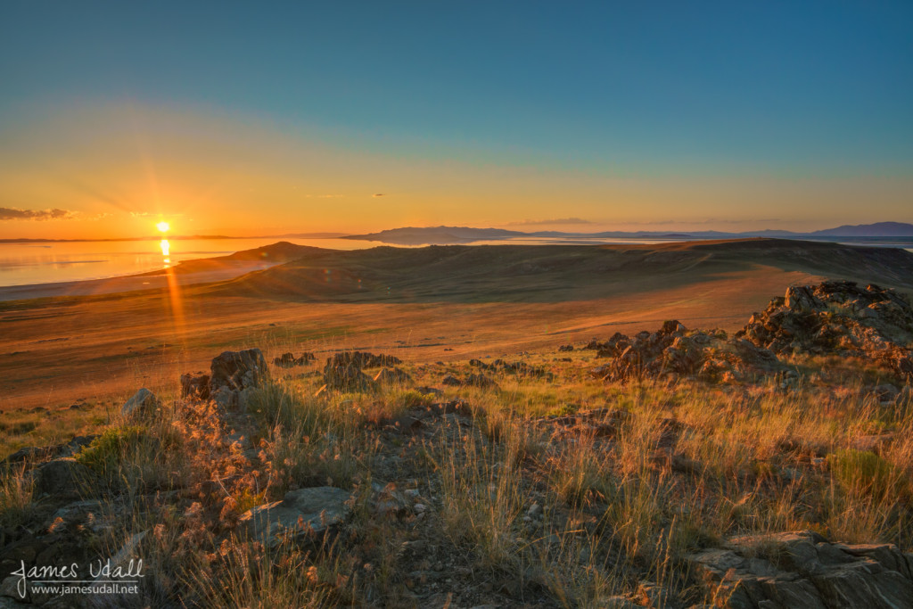 Sunset From Antelope Island