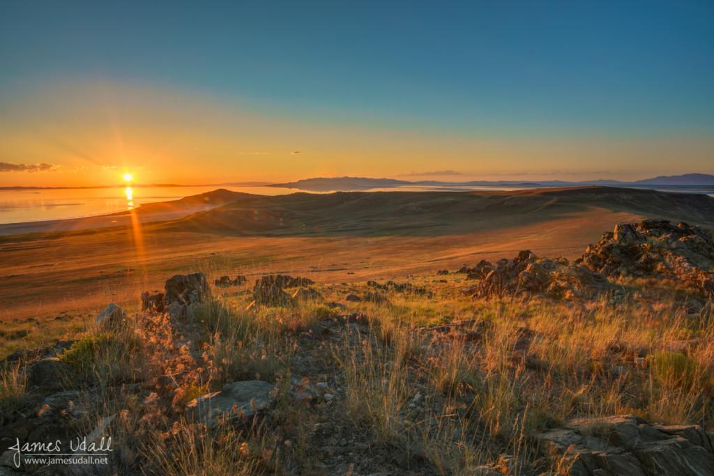 Sunset From Antelope Island