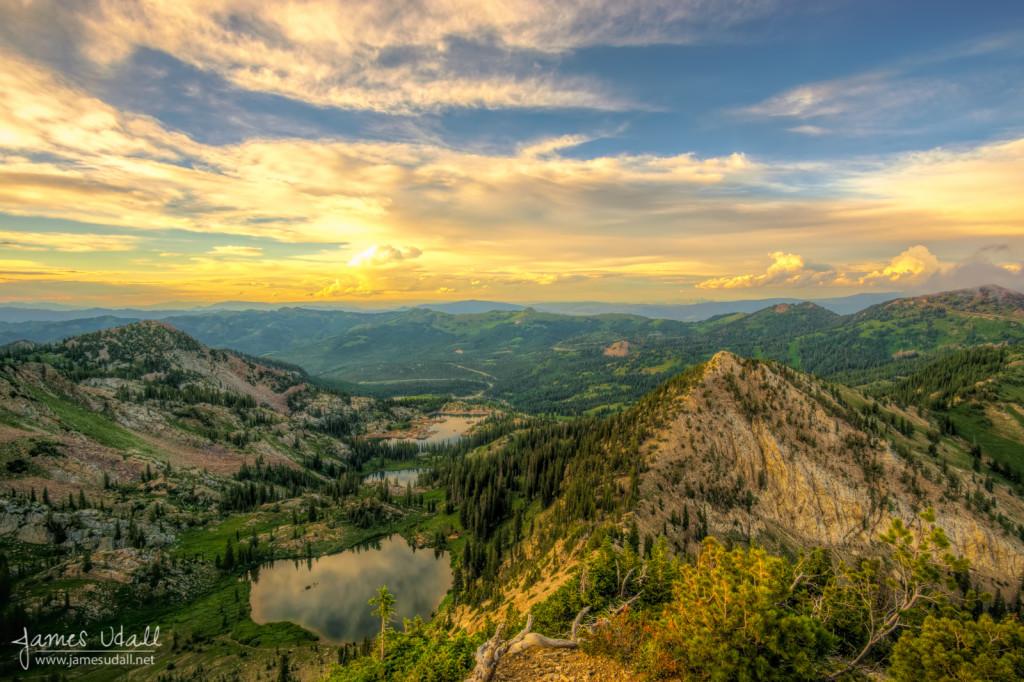 Summer Evening View from Sunset Peak