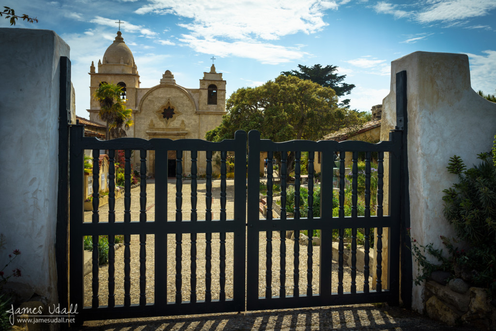 Gate at the Carmel Mission
