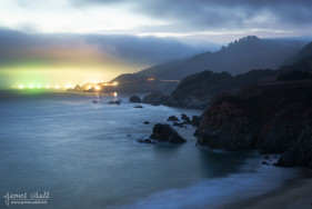 Lights of Fishing Boats in Big Sur
