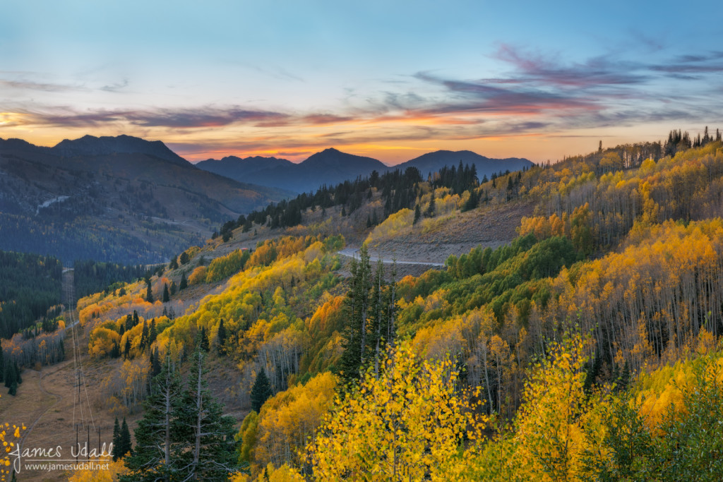 Autumn Sunset at Guardsman Pass
