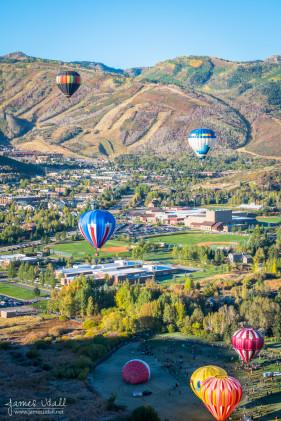 Hot Air Balloons Lifting Off in Park City, Utah