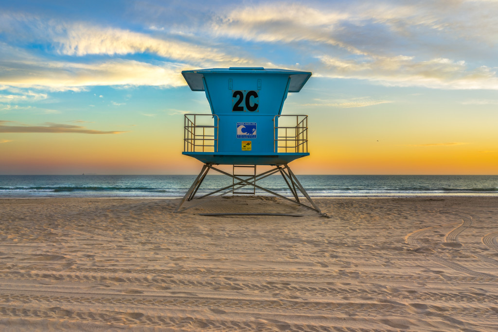 Sunset on Coronado Beach