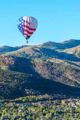 Hot Air Balloon (Flag) over Park City