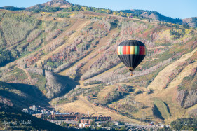 Hot Air Balloon Over Park City Mountain Resort