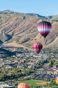 Balloons in Flight in Park City