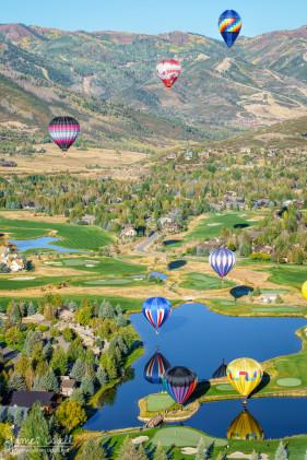 Hot Air Balloons Over Park City Golf Course