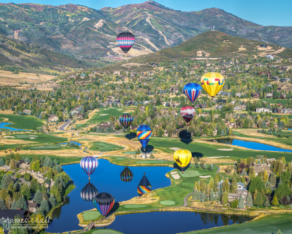 Hot Air Balloons Over Park City